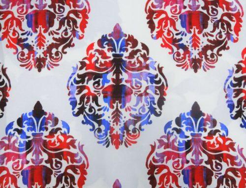 Dallas Damask – Red - HIBOTEX INDUSTRIES - Manufacturer and Exporter of high quality woven Jacquard Furnishing & Garment Fabrics - Jacquard Fabric Manufacturer & Exporter offering wide range of woven quality fabrics