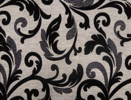 ORLEAANCE 7 – LT BLACK - HIBOTEX INDUSTRIES - Manufacturer and Exporter of high quality woven Jacquard Furnishing & Garment Fabrics - Jacquard Fabric Manufacturer & Exporter offering wide range of woven quality fabrics